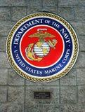 Avdelning av marinen, Förenta staterna Marine Corps, emblem Arkivbilder