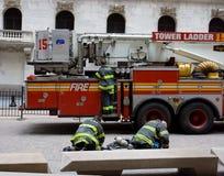 avdelningsbrand New York Royaltyfri Fotografi