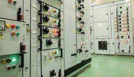 Avdelningskontor för elektrisk energi i kraftverk Arkivbild
