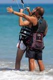 AVDIMOU, CYPRUS/UK - LIPIEC 25: Uczyć się kani kipiel w Avidmou Zdjęcia Royalty Free