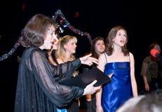 ave αγωγός χορωδιών που οδηγεί τη Μαρία Στοκ Εικόνες