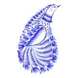 Ave del paraíso decorativa de Paisley del ornamento stock de ilustración