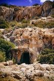 Сave. Greek mountains on a wonderful island Stock Photo