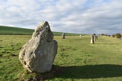 avebury常设石头 图库摄影