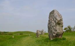 avebury взгляд камней Стоковые Изображения RF