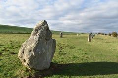 avebury стоящие камни Стоковая Фотография