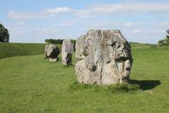 Avebury bevindende stenen Stock Fotografie
