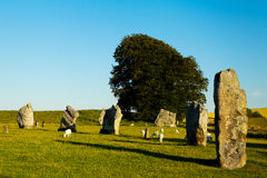 Avebury henge en steencirkels Stock Foto's