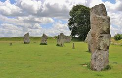 Avebury Henge neolitico Fotografia Stock