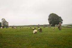 Avebury Henge Wiltshire eniga Kindom Arkivfoton