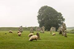 Avebury Henge Wiltshire Zlany Kindom obraz stock