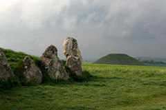 Avebury, longue brouette occidentale de Kennet Photos libres de droits