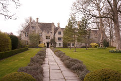 Avebury Manor. An English Tudor Manor built in yellow Cotswold stone, owned by the National Trust Royalty Free Stock Photos