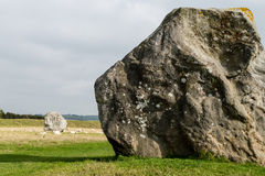 Avebury, Neolithic henge monument, UNESCO World Heritage site. ENGLAND, AVEBURY - 03 OCT 2015: Avebury, Neolithic henge monument, UNESCO World Heritage site stock photography