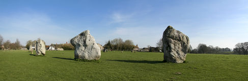 Avebury standing stone circle wiltshire uk. Prehistoric stone circle surrounding avebury village in wiltshire england Stock Images