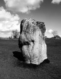 Avebury Standing Stones. One of the many ancient standing stones in Avebury stone circle Stock Photo