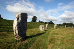 Avebury Stone Circle. The Neolithic Standing Stones, Stone Circles and Henge  at Avebury, Wiltshire.  An English Heritage and World Heritage Site Stock Photography