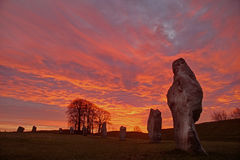 Avebury Stone Circle Royalty Free Stock Images