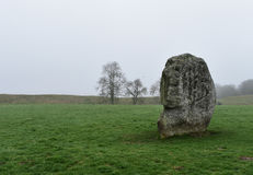 Avebury stones in fog. Old Avebury stones in fog Royalty Free Stock Photos