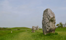 Avebury Stones View. The world heritage site of Avebury Ancient landscape Royalty Free Stock Images