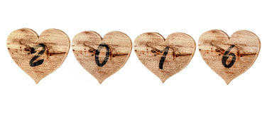 2016 avec amour Photo stock