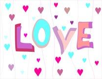 Avec amour et chauffe le plat d'inscription illustration stock