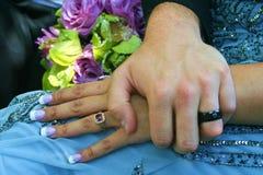 Avec ces anneaux Photographie stock libre de droits
