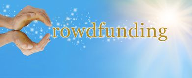 Avec Crowdfunding le ` s de ciel la limite image libre de droits
