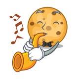 Avec des biscuits d'avoine de trompette dans un pot de bande dessinée illustration libre de droits