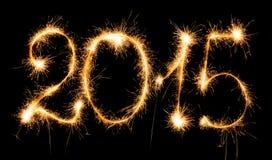 2015 avec des cierges magiques Image stock