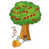 Avec des jouets de cerisier de trompette dans la forme de caractère illustration libre de droits