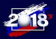 2018 avec du ballon de football Calibre du football d'affiche Image stock