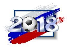 2018 avec du ballon de football Calibre du football d'affiche Photos stock