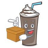 Avec la bande dessinée de caractère de chocolat de glace de boîte Illustration de Vecteur