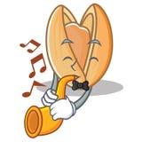 Avec la bande dessinée de mascotte de pistache de trompette illustration libre de droits