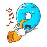 Avec la bande dessinée de trompette le bleu zéro de couleur de nombre illustration de vecteur