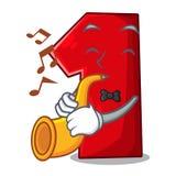 Avec la bande dessinée de trompette le numéro un pour le champion illustration stock