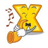 Avec la bande dessinée de trompette multipliez le signe pour pour calculer des maths illustration libre de droits