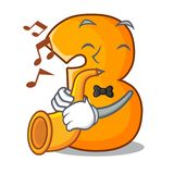 Avec la bande dessinée de trompette numéro trois sur la porte en bois illustration de vecteur
