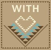 Avec la carte de voeux graphique tribale d'amour Image stock