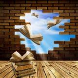 Avec la connaissance à la liberté ! Image libre de droits