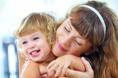 Avec la maman Image libre de droits