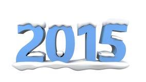 2015 avec la neige Photographie stock libre de droits