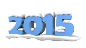 2015 avec la neige Image stock