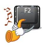 Avec le bouton de trompette le F2 a isolé avec le caractère illustration libre de droits