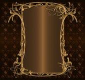 Or avec le brun foncé Photographie stock libre de droits