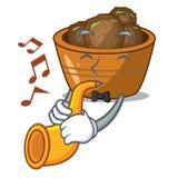 Avec le jamun de gulab de trompette une bande dessinée très délicieuse illustration de vecteur