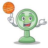 Avec le style de bande dessinée de caractère de fan de basket-ball Image stock