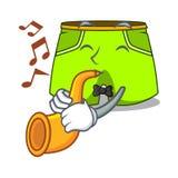 Avec le style de shorts de bande dessinée de trompette pour la natation illustration stock