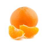 Avec les tranches juteuses de mandarine Photos libres de droits